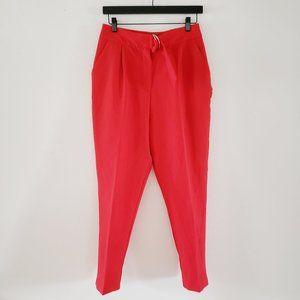 ASOS Women's 6 Red High Waist Tailored Peg Pants